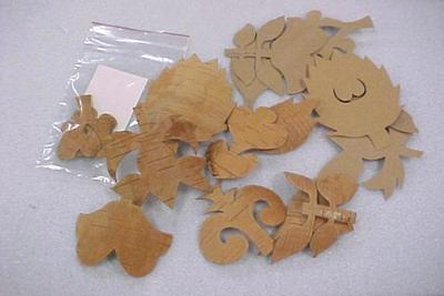 Templates, Birch Bark And Paper