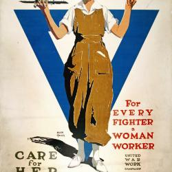 Poster, For Every Fighter, A Woman Worker