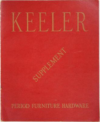 Supplement, Keeler Brass Company, Period Furniture Hardware, Catalog No. 41