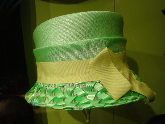 Hat, Lime Green Straw
