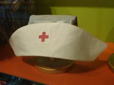 Uniform Cap, Red Cross Woman's Cap, Wwii