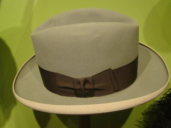 Hat, Gray Felt Fedora