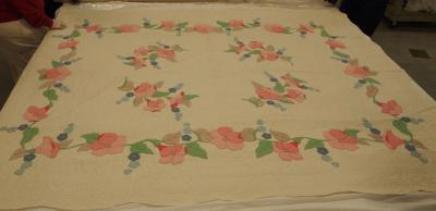 Appliqued Kit Quilt, Morning Glory