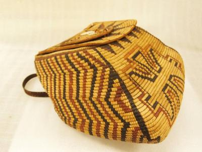 Pack Basket With Lid, Woven
