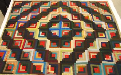 Quilts (2), Crazy And 'log Cabin'