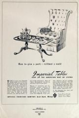 Furniture Advertisement Layout, Imperial Furniture Company, Tables