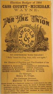 Clipping, Election Dodger Of 1864