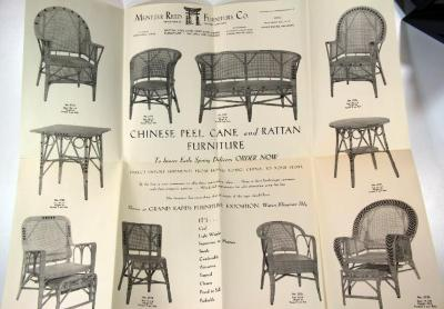 Poster, Mentzer Reed Furniture Company, Chinese Peel Cane and Rattan Furniture
