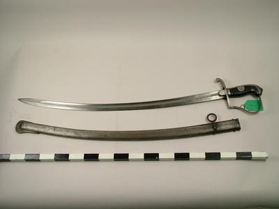 Sword (artillery Saber) And Scabbard