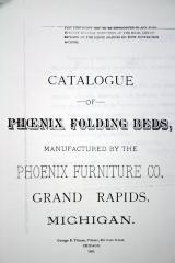 Trade Catalog (photocopy), Phoenix Furniture Company, Manufacturers of Fine, Medium and Plain Furniture