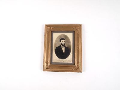 Copy Photograph, Abraham Lincoln, October 3, 1861, to Mrs. Lucy G. Speed