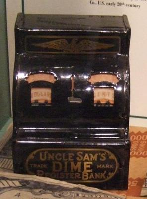 Bank, 'uncle Sam's Dime Cash Register'