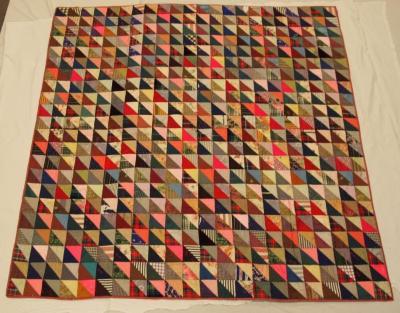 Pieced Quilt, Half Triangles