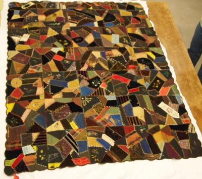 Quilt, Crazy; 'campaign Ribbons'