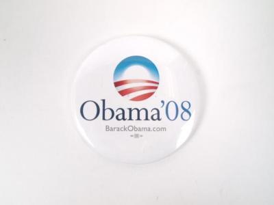 Political Pin-Back Button- Obama 2008 Election