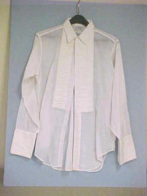 Shirt, Man's, White Cotton, Formal Shirt