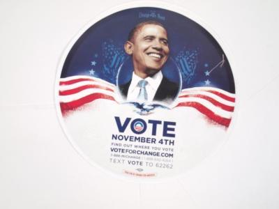 Circular Poster, Vote for Obama