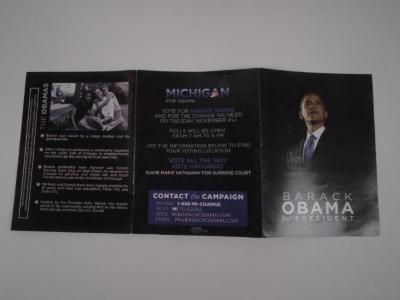 Brochure, Barack Obama