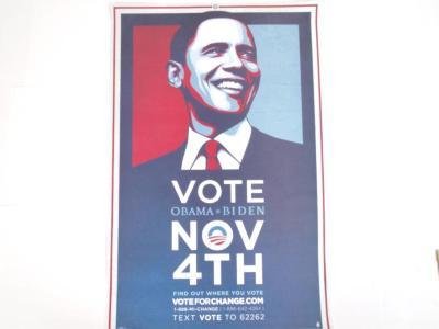 Poster, Vote for Obama