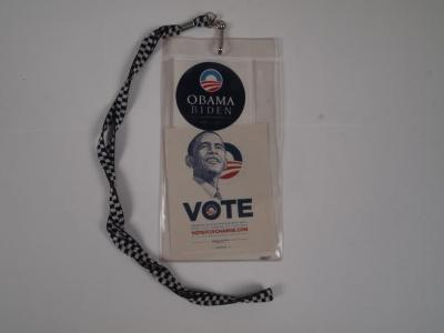 Badge with Obama Vote