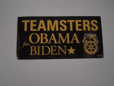 Bumper Sticker, Teamsters For Obama