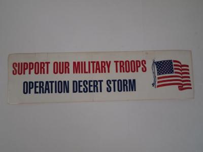 Bumper Sticker, Support Our Military Troops