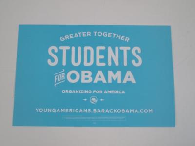Poster, Students for Obama