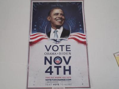 Poster, Vote Obama Nov 4