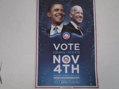 Poster, Vote Obama Biden Nov 4