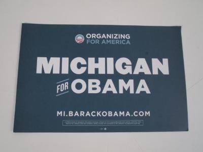 Poster, Michigan for Obama