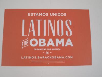 Poster, Latinos for Obama