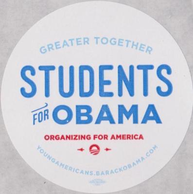 Political Sticker, Students for Obama