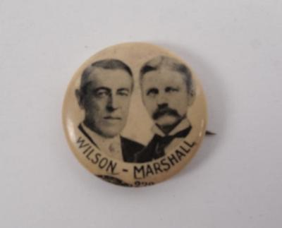 Campaign Button, Wilson-marshall