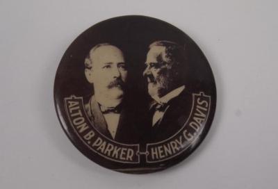 Campaign Button, Alton B. Parker-henry G. Davis