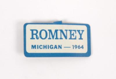 Button, Romney - Michigan - 1964
