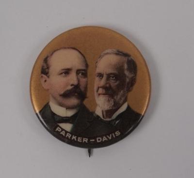 Campaign Button, Parker-davis