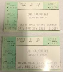 Tickets (2), For 'oh Calcutta'