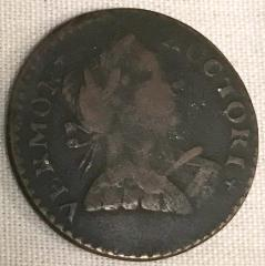 Coin, Copper,  Vermont Colonial Cent, 1788 Or 1787