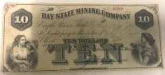 Bank Note, Bay State Mining Co., 10 dollars
