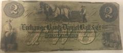 Two Dollar Note, Exchange Bank. Daniel Ball & Co., Grand Rapids, Mich