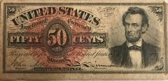 Fractional Currency, 50 Cents, U. S.