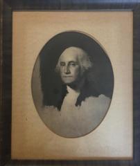 Framed, Half-tone print of George Washington (after Gilbert Stuart)