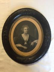 Framed Print, Lithograph of Martha Washington
