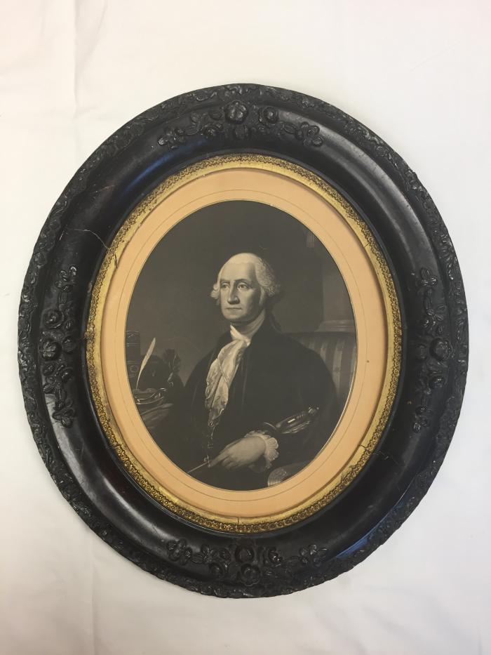 Framed print, Lithograph of George Washington