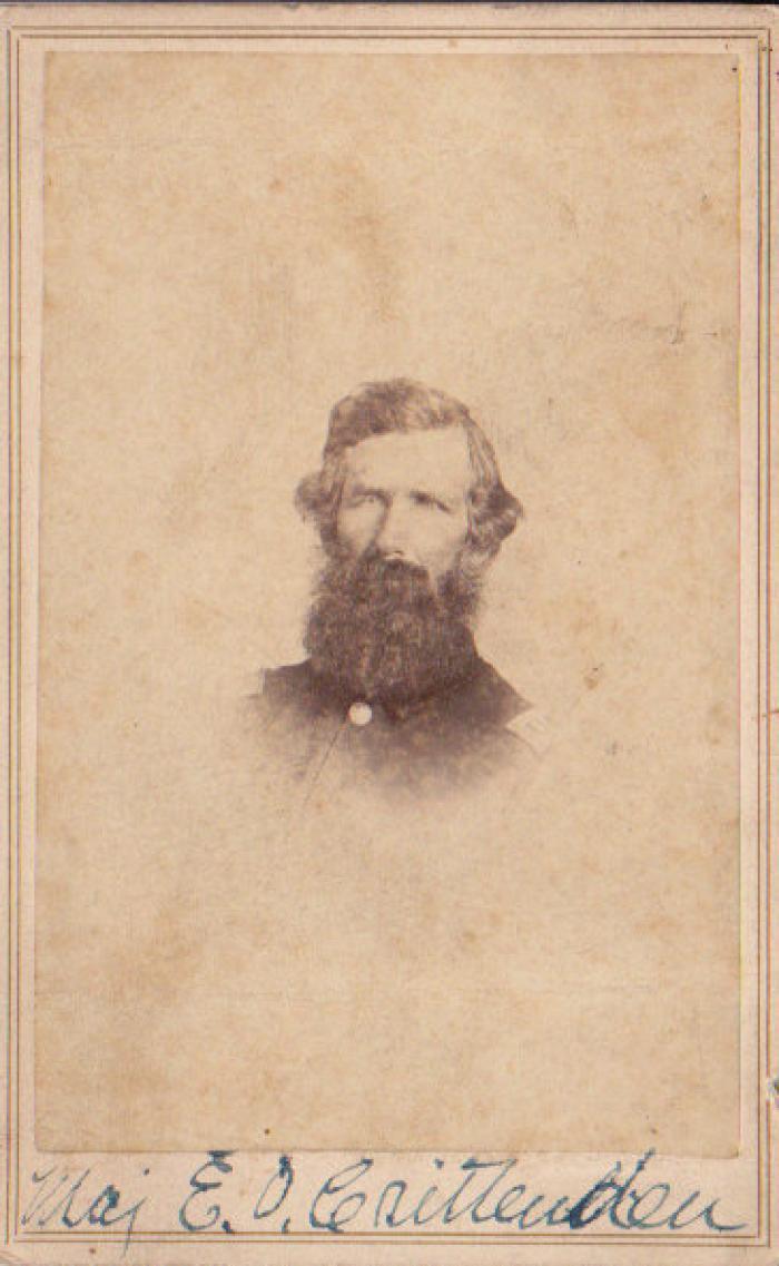 Photograph, Emory O. Crittenton 1st Michigan Engineers Civil War