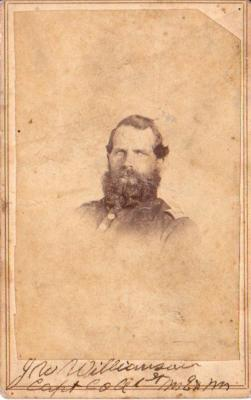 Photograph, John W. Williamson 1st Michigan Engineers Civil War