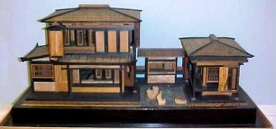 Traditional Japanese House Model