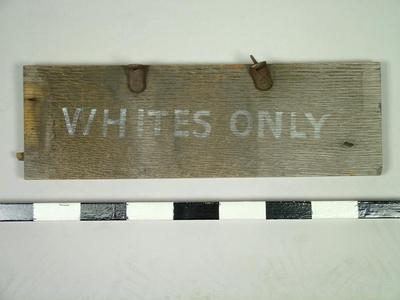 Sign, Whites Only