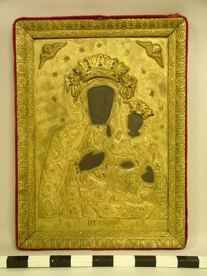 Black Madonna Icon, Framed