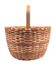 Basket With Carved Handle